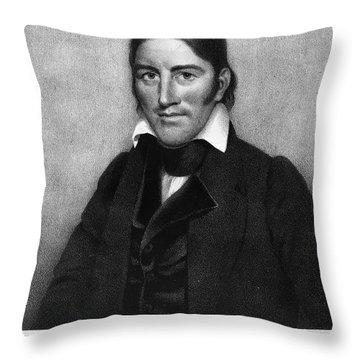 Davy Crockett (1786-1836) Throw Pillow by Granger
