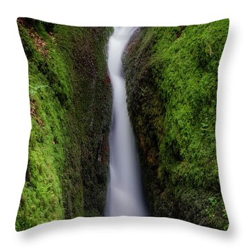 Throw Pillow featuring the photograph Dollar Glen In Clackmannanshire by Jeremy Lavender Photography