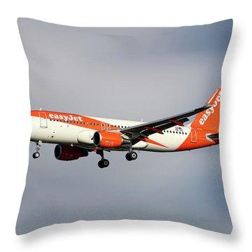 Easyjet Airbus A320-214 Throw Pillow