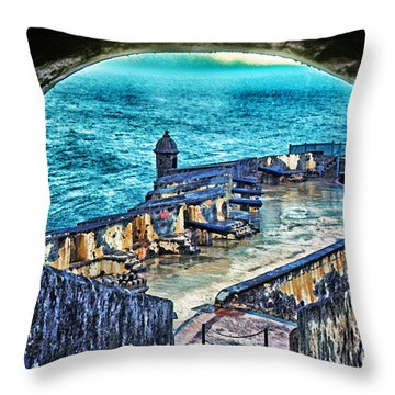 El Morro Fortress Old San Juan Throw Pillow by Thomas R Fletcher