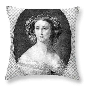 Empress Eugenie Of France Throw Pillow by Granger