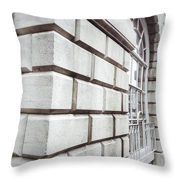 English Buildings Detail Throw Pillow
