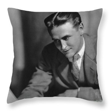 F. Scott Fitzgerald Throw Pillow by Granger