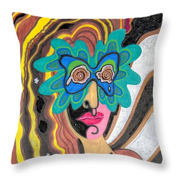 4 Faces Of Laurel - I Throw Pillow