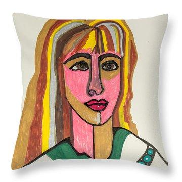 4 Faces Of Laurel - II Throw Pillow