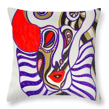 4 Faces Of Laurel - Iv Throw Pillow