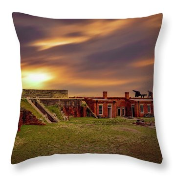 Throw Pillow featuring the photograph Fort Clinch by Peter Lakomy
