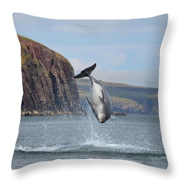 Throw Pillow featuring the photograph Fungie by Barbara Walsh