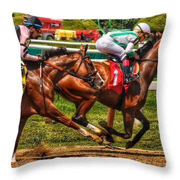 4 Gaining Throw Pillow