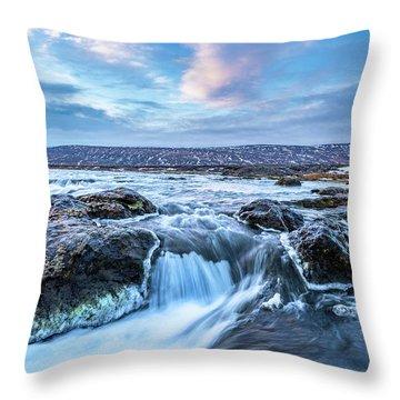 Godafoss Waterfall In Iceland Throw Pillow by Joe Belanger