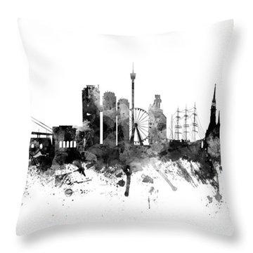 Gothenburg Sweden Skyline Throw Pillow