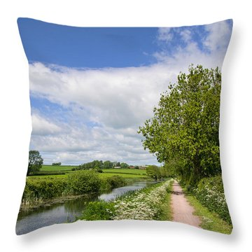 Grand Western Canal Throw Pillow