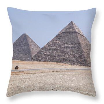 Great Pyramids Of Giza - Egypt Throw Pillow