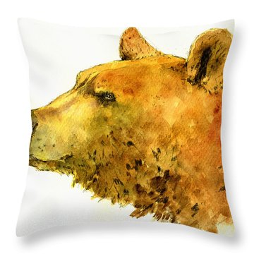 Grizzly Bear Throw Pillows