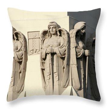 4 Guardian Angels Throw Pillow