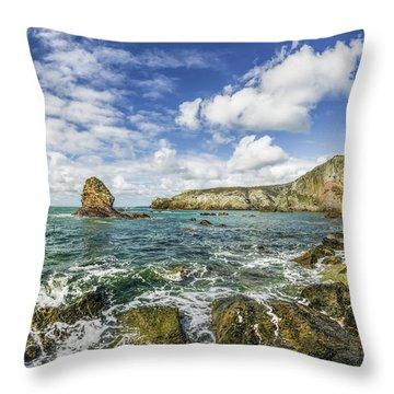 Throw Pillow featuring the photograph Gwenfaens Pillar by Ian Mitchell