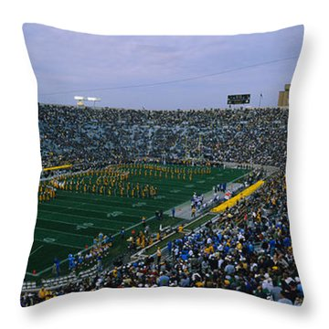 High Angle View Of A Football Stadium Throw Pillow by Panoramic Images