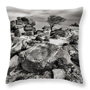 Holwell Tor On Dartmoor Throw Pillow