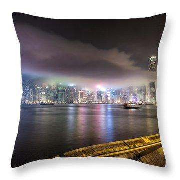 Hong Kong Stunning Skyline Throw Pillow