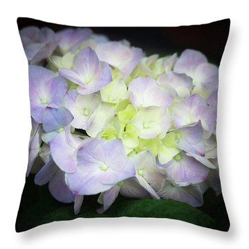 Hydrangea Throw Pillow by Cathy Donohoue