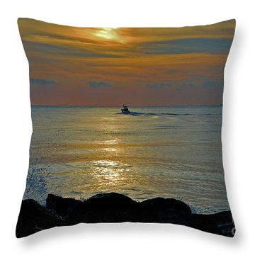 Throw Pillow featuring the photograph 4- Into The Day by Joseph Keane