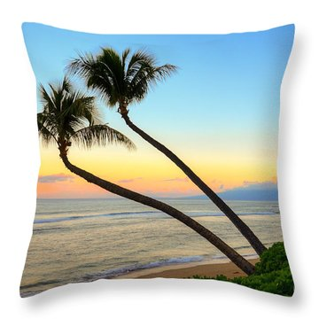 Throw Pillow featuring the photograph Island Sunrise by Kelly Wade