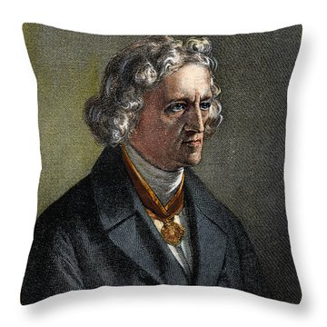 Jacob Grimm, 1785-1863 Throw Pillow
