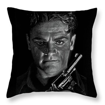 James Cagney - A Study Throw Pillow