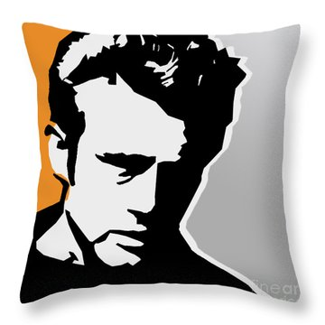James Dean  Throw Pillow by Mark Ashkenazi
