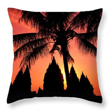 Java, Prambanan Throw Pillow by Gloria & Richard Maschmeyer - Printscapes