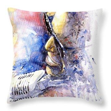 Jazz Ray Charles Throw Pillow by Yuriy  Shevchuk