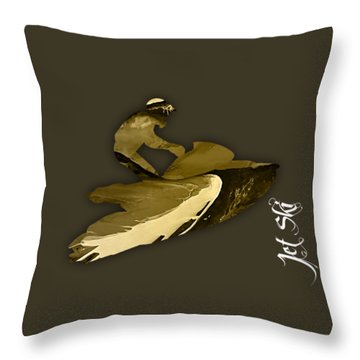 Jet Ski Collection Throw Pillow by Marvin Blaine