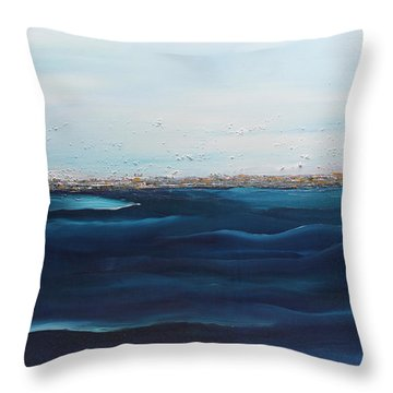Jewels Of The Sea Throw Pillow by Dolores  Deal