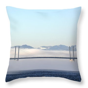 Kessock Bridge, Inverness Throw Pillow