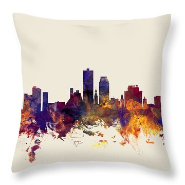 Knoxville Tennessee Skyline Throw Pillow