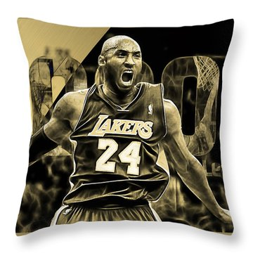 Kobe Bryant Collection Throw Pillow