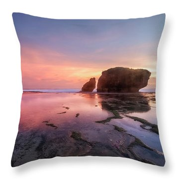 Kukup Beach - Java Throw Pillow