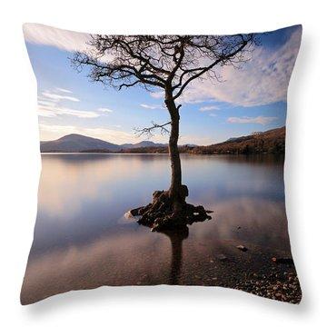 Loch Lomond Tree Throw Pillow