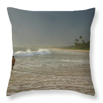 Long Beach Kogalla Throw Pillow