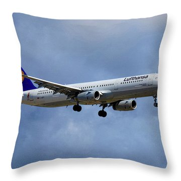 Lufthansa Airbus A321-131 Throw Pillow