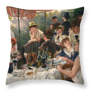 Luncheon Of The Boating Party Throw Pillow