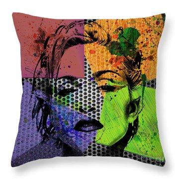 Madonna  Throw Pillow by Mark Ashkenazi