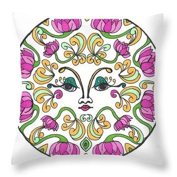 Lotus Princess Throw Pillow