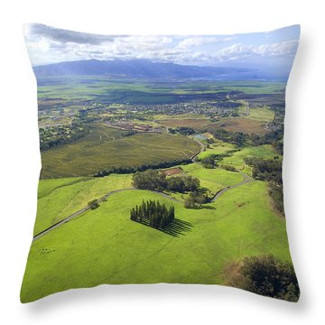 Maui Aerial Throw Pillow by Ron Dahlquist - Printscapes