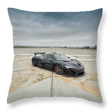 Throw Pillow featuring the photograph #mclaren #mso #p1 by ItzKirb Photography