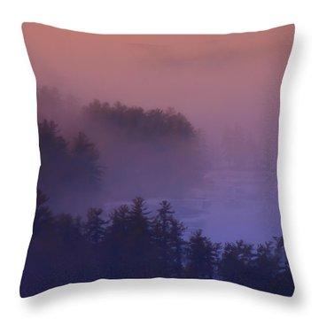 Melvin Bay Fog Throw Pillow