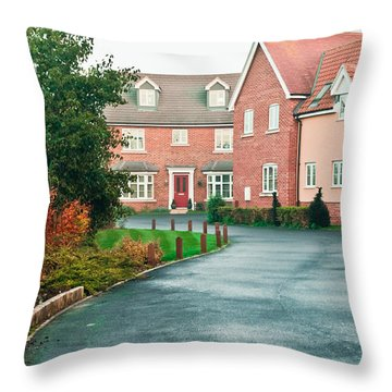 Modern Houses Throw Pillow
