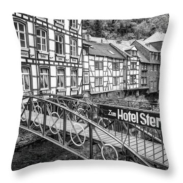 Monschau In Germany Throw Pillow by Jeremy Lavender Photography