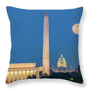 4 Monuments Throw Pillow