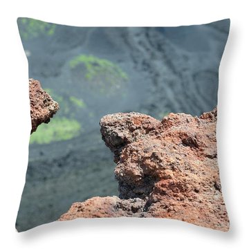 Mount Etna Throw Pillow